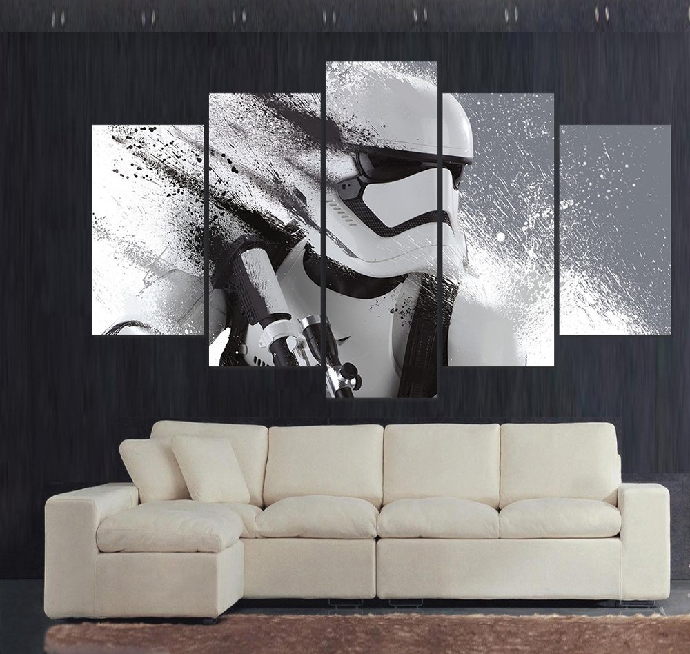Custom stormtrooper star wars movie poster picture for - Living room wall painting designs ...