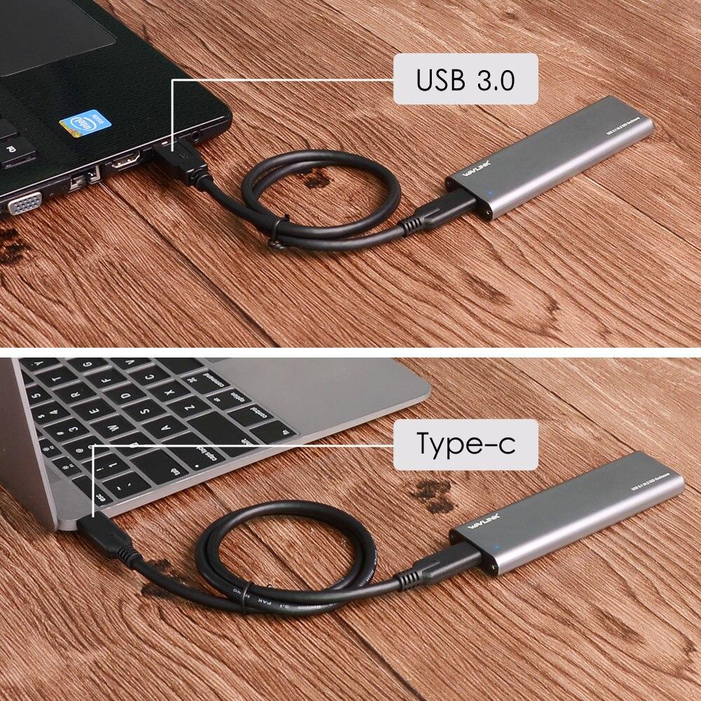 Wavlink ալյումինի նավահանգիստ Type C USB 3.1 Gen - Արտաքին պահեստավորման սարքեր - Լուսանկար 3
