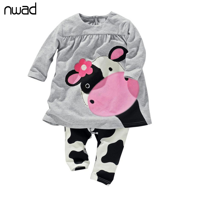 2017 Hot Sale Lovely Newborn Clothing For Baby Girl Cow