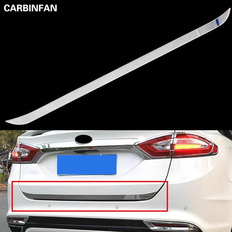 Car ABS Rear Trunk Lid Tail Gate Molding Cover trim For Subaru XV Crosstrek 2018