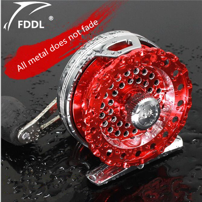FDDL Brand All metal Not rust Anti corrosion 65 mm Fishing Reels raft fishing wheel Fly Fish Reel Former Rafting Ice Fishing