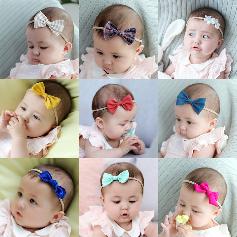 30 Colors Baby Girls Headband Fashion Bow Knot Head Bandage Kids Infant Toddlers Head Wrap Hair Band Newborn Clothes Accessories