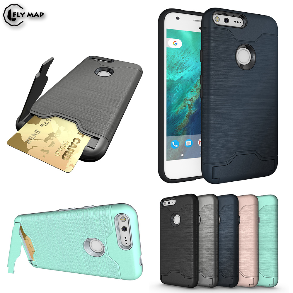 Кронштейн слот для карты сумка для Google Pixel 1 Nexus S1 Броня кредитной карты Телефон задняя крышка для htc парусник черный бампер Coque