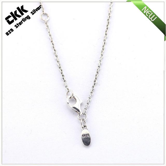 100% 925 China Prata Esterlina Cadeia Fine Jewelry Frete Grátis