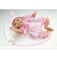 Новинка ручной силикона Reborn Baby Doll 16 дюймов/40 см, Реалистичная кукла винил малышей Игрушечные лошадки для Детский подарок