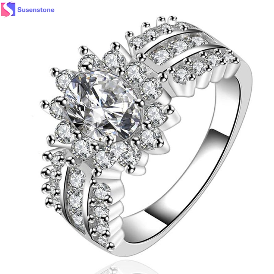 Fashion Crystal stone ring Wom...