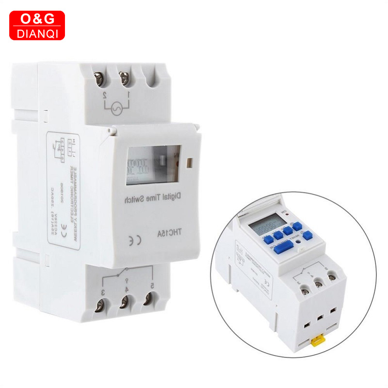 Electronic 7 Days Programmable Digital Time <font><b>Relay</b></font> Control <font><b>220V</b></font> 6A 10A 16A <font><b>20A</b></font> 25A Free Din Rail Mounting Time Switch image