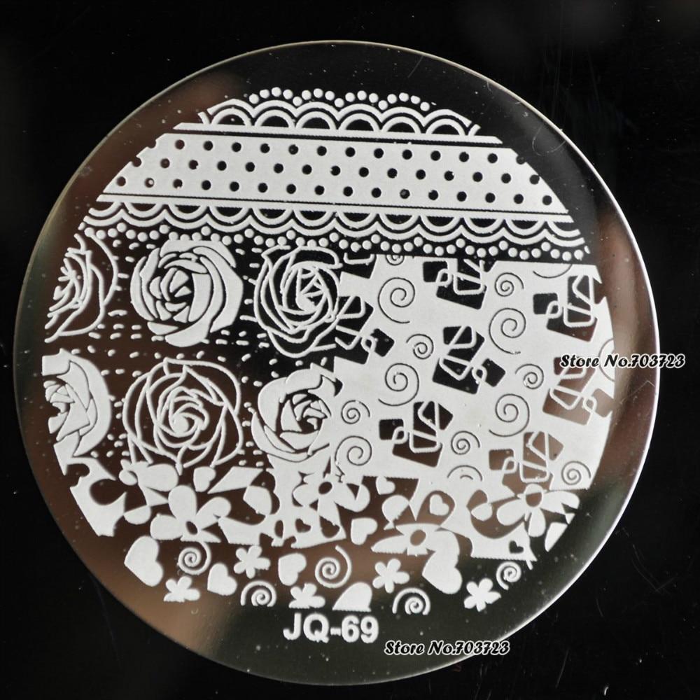 Wholesale Nail Art Diy Pattern Image Stamping Plate Lace Rose