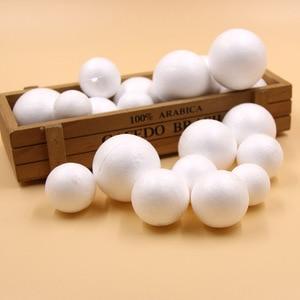 20PCS 30/35/40/45MM DIY White Foam Modelling Polystyrene Styrofoam Ball For Kids Gift Christmas Party Decorations Craft Supplies