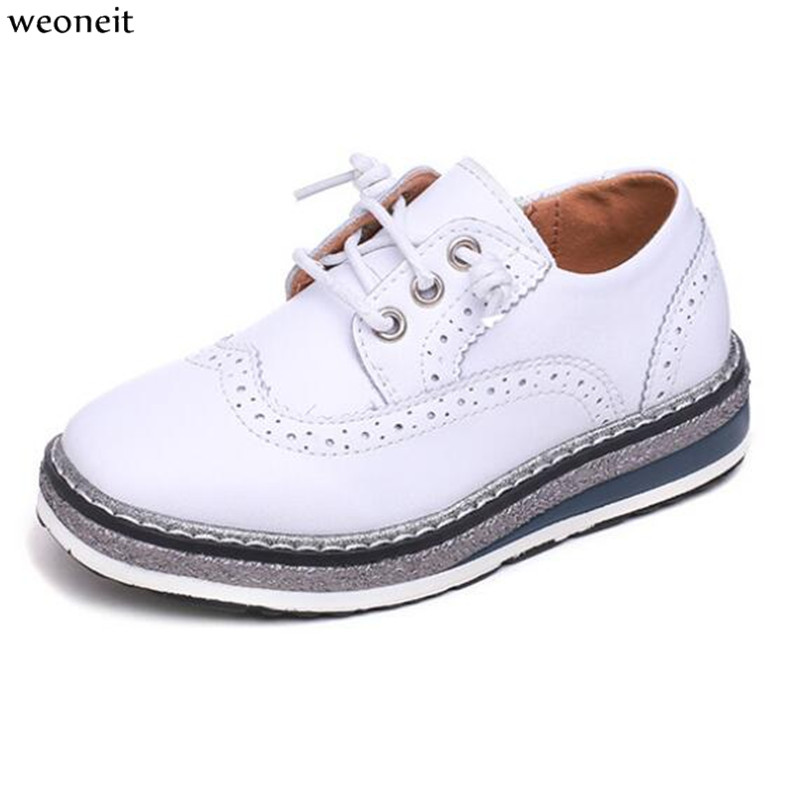 Weoneit Boys Leather Shoes for Kids Wedding Show School Dress Flats Shoes England Style Children Performance Uniform Shoes-in Leather Shoes from Mother & Kids on AliExpress - 11.11_Double 11_Singles' Day 1