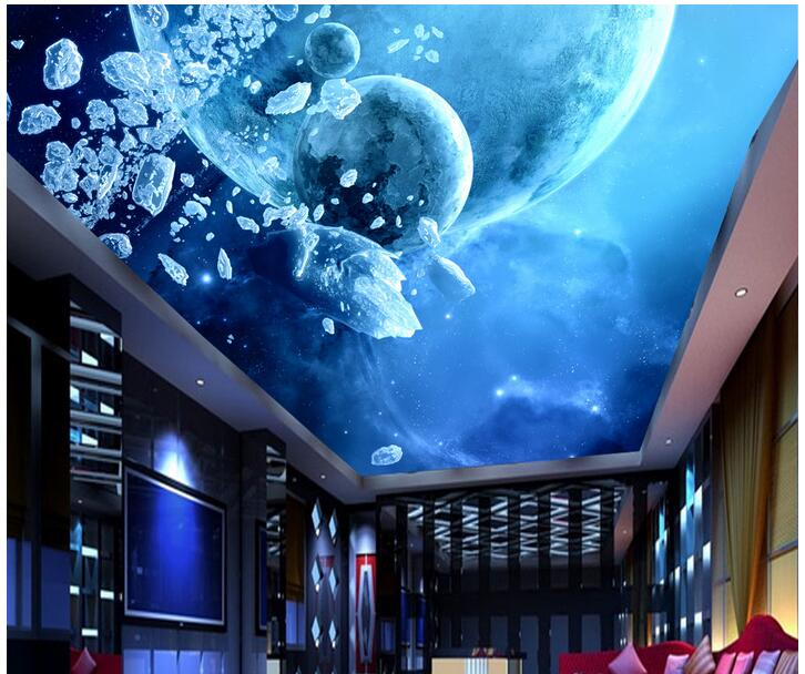 3d wallpaper custom photo non-woven mural room picture 3d wall murals wallpaper star galaxy planet ceiling decoration painting custom photo 3d wallpaper non woven mural 3d wall murals wallpaper for living room european watercolor roses decoration painting
