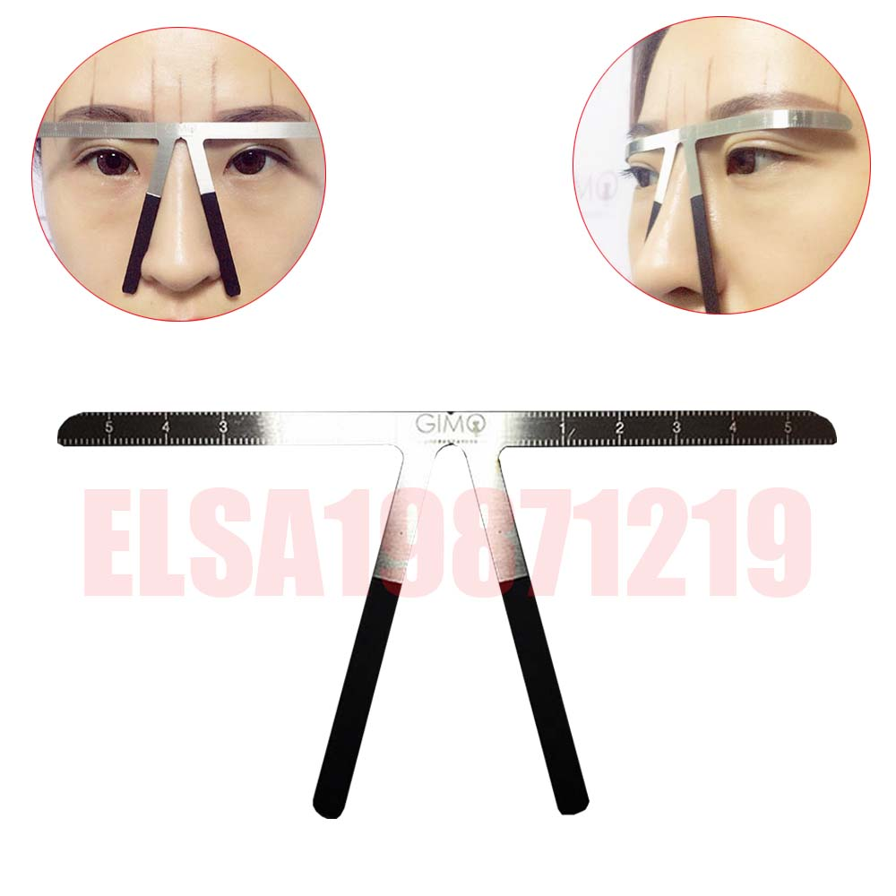 Microblading Eyebrow Tattoo Stencil Ruler Shaper Template Definition Permanent Makeup