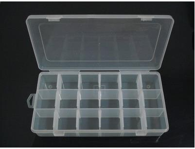 Transpa Plastic Divided Box 18 Grids Jewelry Storage Small Items Rings Earrings Container Bo Bins 3pcs Lot In From
