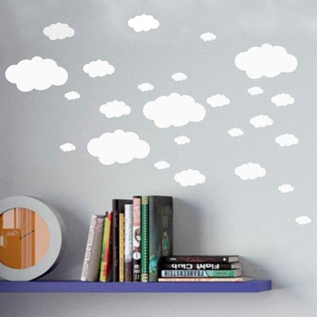 Mini Clouds wall sticker , vinyl cloud wall art nursery kids child room , set 18 Clouds Household decoration sticker