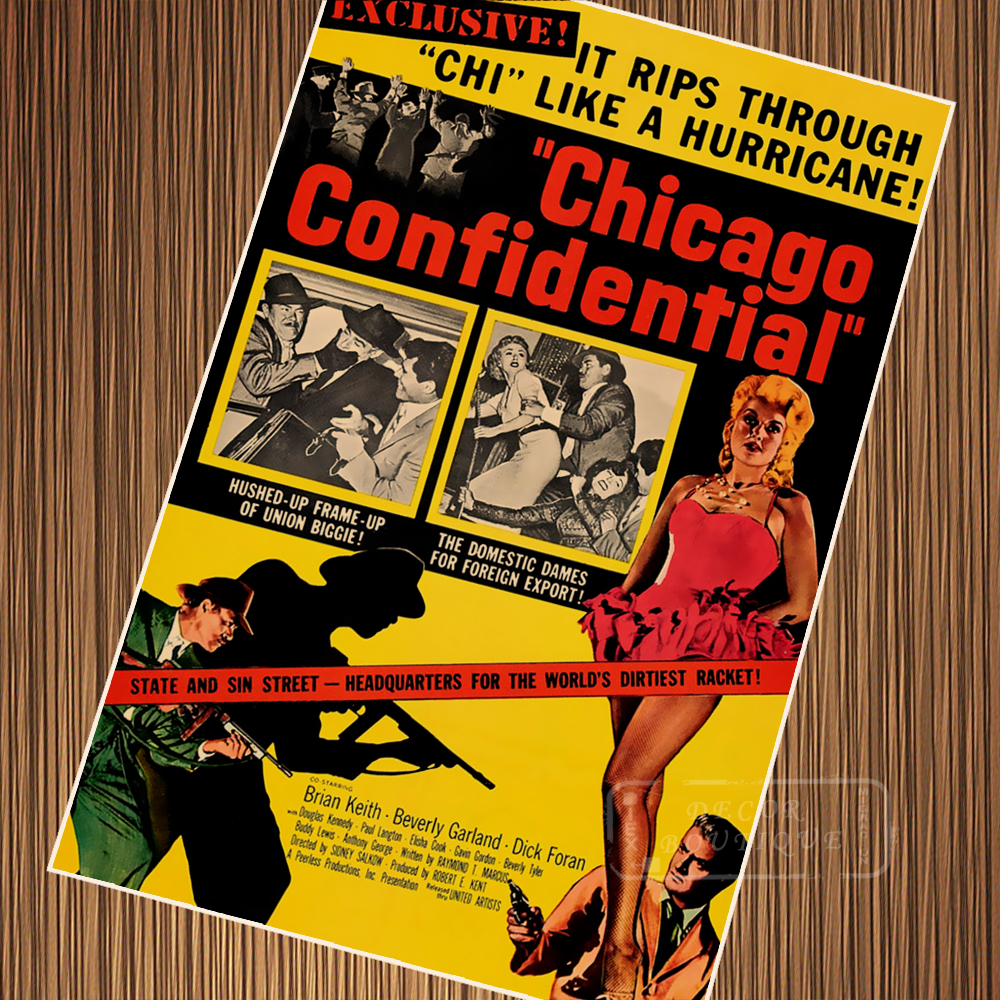 Chicago Confidential Classic Movie Film Noir Retro Vintage Poster Canvas Painting DIY Wall Paper Home Decor Gift image