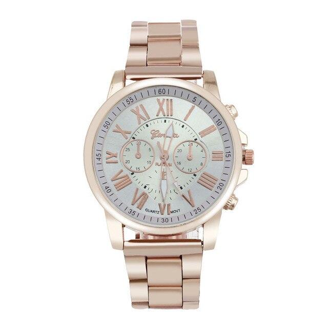 erkek kol saati Colorful Womens Mens Stylish watch Roman numerals Stainless Steel Big Dial Watch Quartz Sports Watch 4