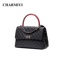 CHARMIYI Brand Luxury Caviar Genuine Leather Women Handbags Designer Ladies Messenger Bags High Quality Female Handle Tote Bag