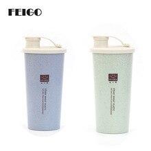 FEIGO 1Pcs My Water Cup 450ml Cola Coffee Mugs Wheat Straw Plastic Healthy Drink Bottle Lid Daily Drink Sports Outdoor Cup F686 олейник с я нарисую храм стихотворения