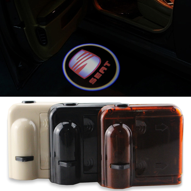 2X Led Courtesy Car Door Light Wireless For SEAT Cordoba 1993 2010 Welcome Light Car Lluz