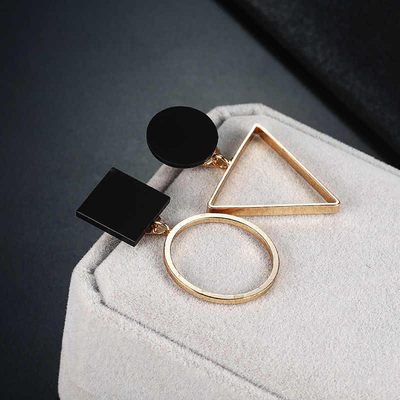 Baru Fashion Geometris Anting-Anting Anting-Anting untuk Wanita Bulat Segitiga Desain Elegan Anting-Anting untuk Ulang Tahun Pernikahan Hadiah Brincos