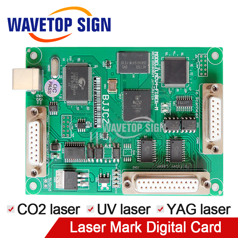 JCZ laser mark machine control card V4-SZL1 digital signal use for CO2 laser module YAG laser module UV laser module usb card цены