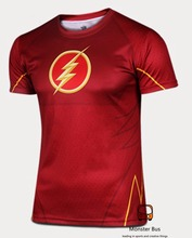 Super Thin The Flash Shirt 3D Cutting UV Resist Sports T shirt Gym Lycra Cold Sports