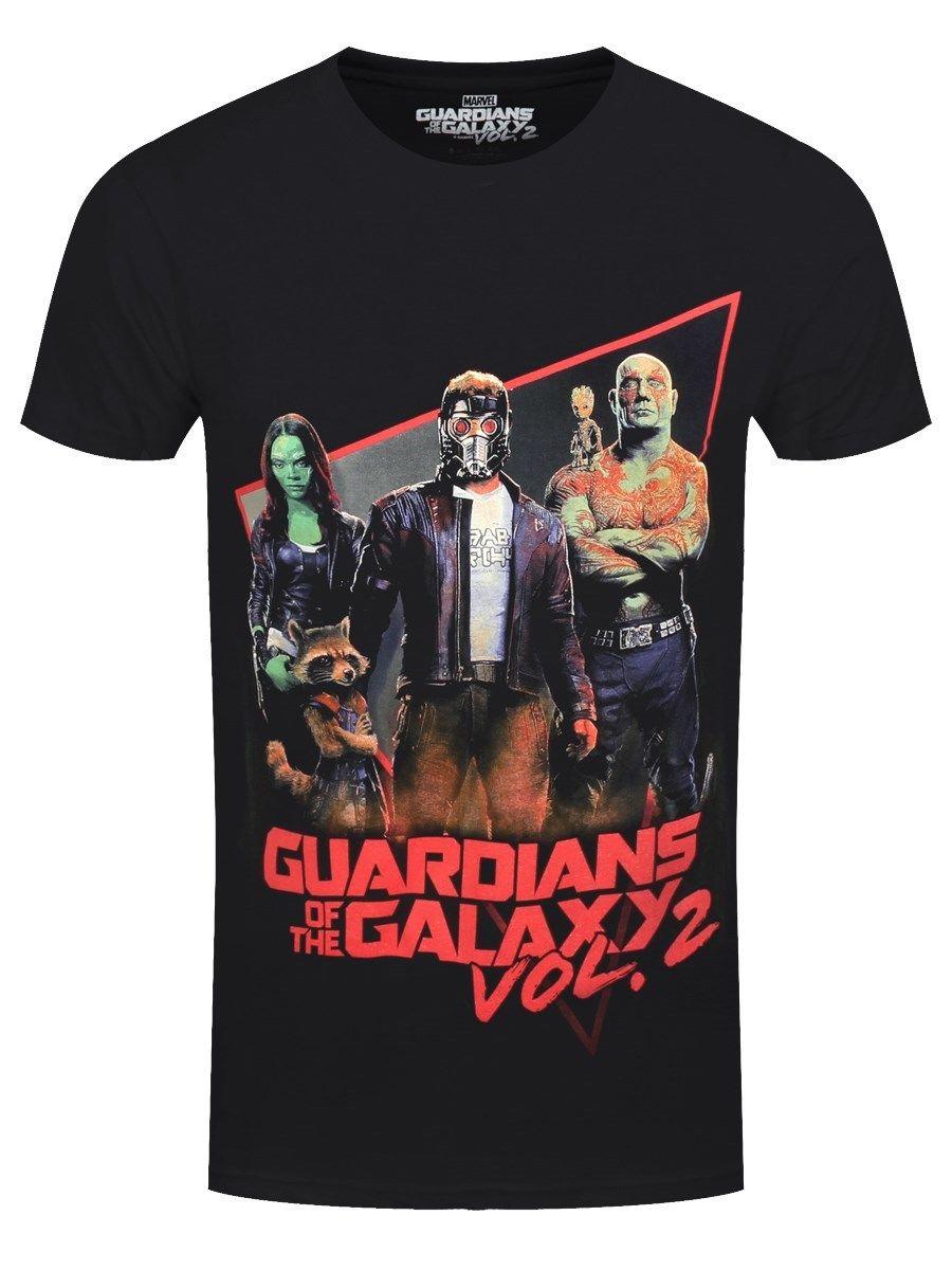 Guardians Of The Galaxy T-Shirt Eighties Homme Noir Men Short Sleeve T shirt