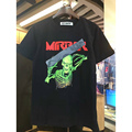 New style Fashion Hip hop off-white mirror t-shirt off white cotton men Short sleeve Green skeleton t shirts