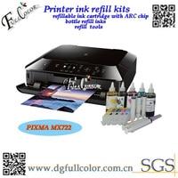 送料無料ホット製品プリンター ciss カートリッジ詰め替え インク キット 250 251 で arc チップ pixma mx722 mx922 で ボトル インク -