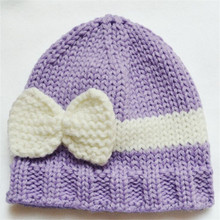 Bow Knitted Baby Caps