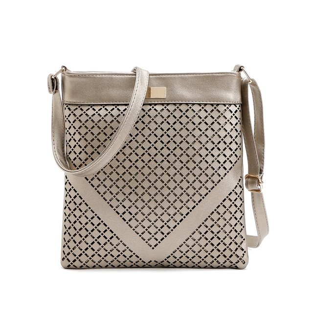 54714c419 Small Casual women messenger bags PU Leather hollow out crossbody shoulder  bag ladies shoulder purse and handbag bolsas feminina
