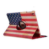 Enzi Fashion Print UK ONS Nationale Vlag 360 Roterende Full Body Pu Case Cover Voor Apple Ipad Air Ipad 5 9.7