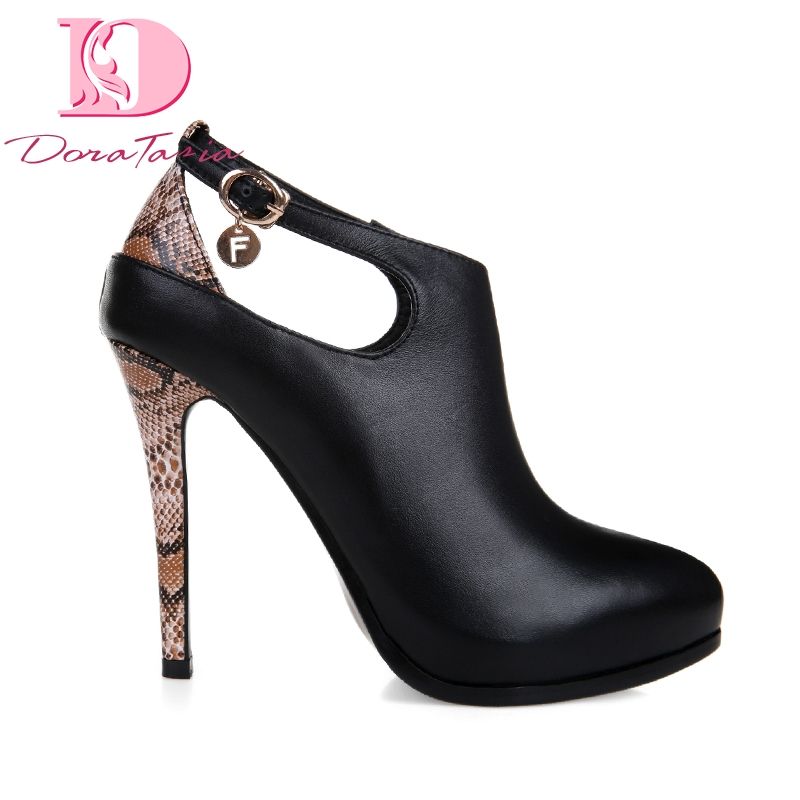 Doratasia 2019 Natural Cow Sexy Genuine Leather 11cm High Heels Elegant Women Shoes Date Party Platform Lady Shoes Woman