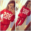 2016 Printing Hedging Sweatshirt and Pants Sportswear Woman 2 piece set Tracksuit Fitness Wear for Women Clothing