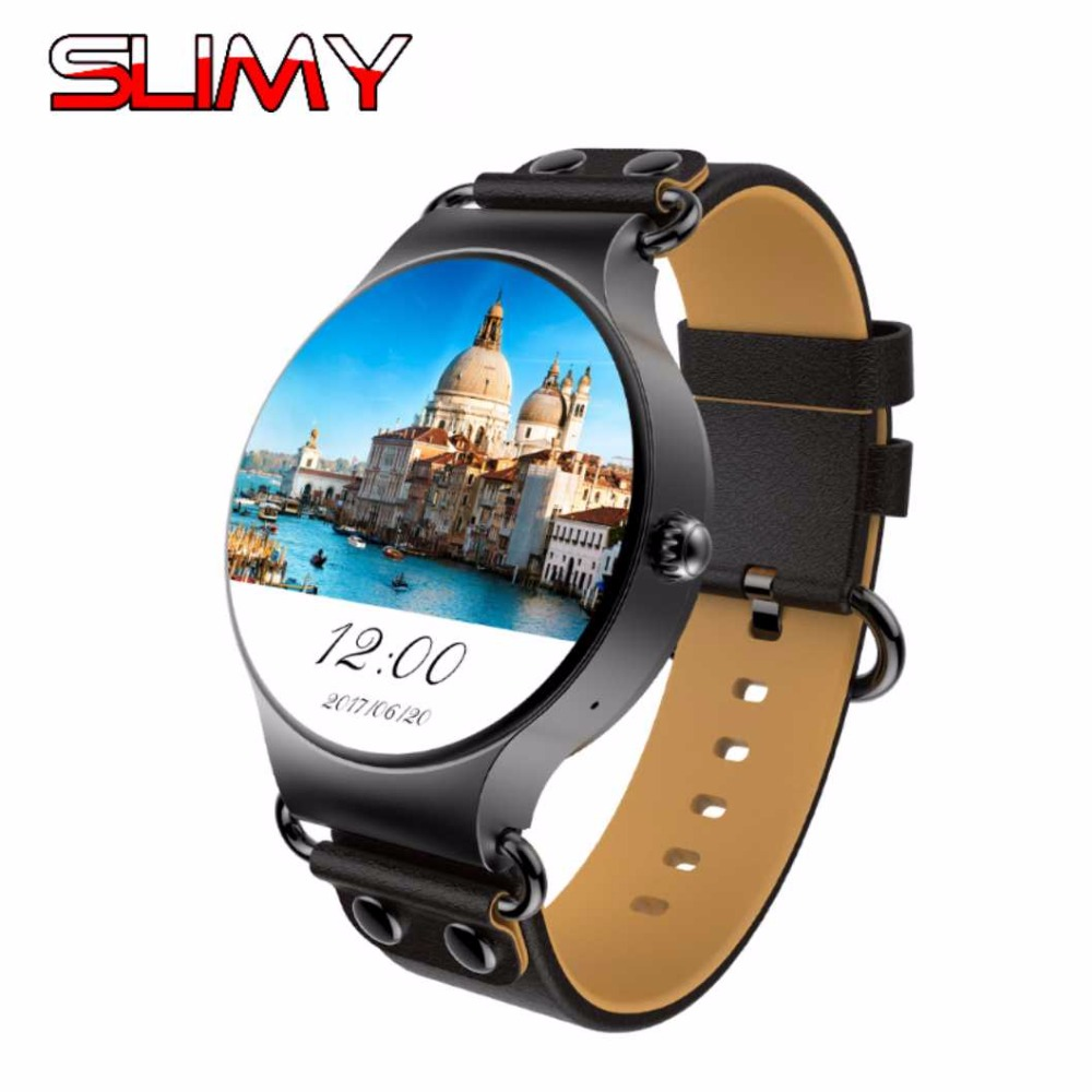 Slimy KW98 Android 5.1 Smart Watch 400*400 3G WIFI GPS MTK6580 512MB+8GB Smartwatch Heart Rate Wristwatch Reloj Inteligente smartch h1 smart watch ip68 waterproof 1 39inch 400 400 gps wifi 3g heart rate 4gb 512mb smartwatch for android ios camera 500