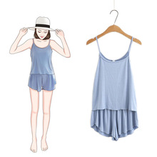 Modal Sexy Women Plus Size Sleepwear Summer Pajamas Sets For Nightgown Hot Sale Clothes Free Shipping