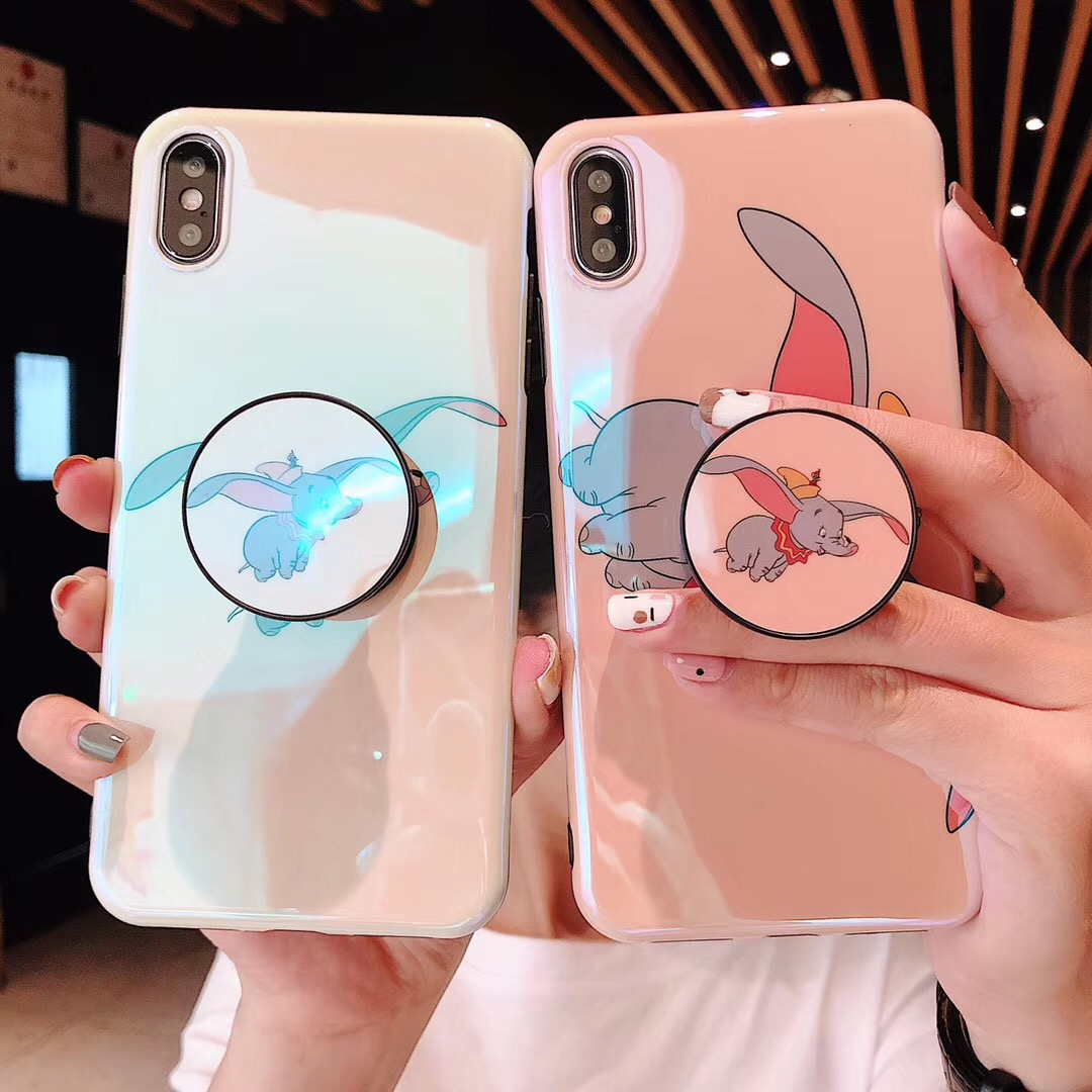 Cellphones & Telecommunications Dumbo Moon Cartoon Cute Phone Case For Iphone X Xs Max Xr Lovely Flying Elephant Phone Back Cover Protection Hard Shell Various Styles Half-wrapped Case