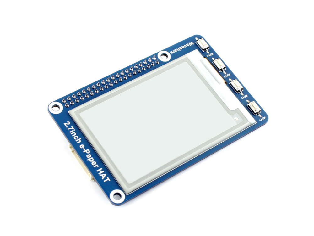 Image 2 - 2.7inch e Paper HAT 264x176 2.7inch E Ink Display for Raspberry Pi 3B/2B/Zero/Zero W SPI interface Supports Two color-in Demo Board from Computer & Office