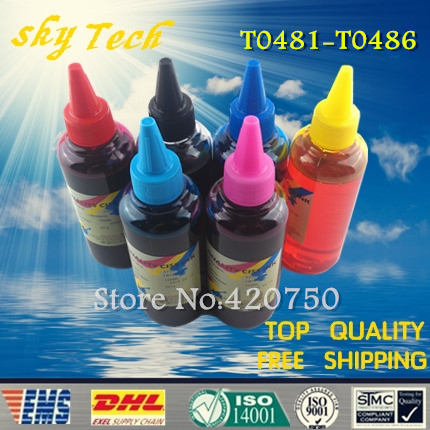 ФОТО Dye refill ink Suit for Epson T0481 - T0486 cartridges,suit for Epson R200 R220 R300 R300M R320 RX500 RX600 RX620 etc