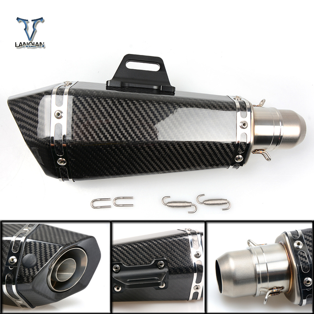 36 51mm Universal CNC Motorcycle Exhaust Pipe With Muffler For Kawasaki z1000sx z1000 sx z750r zx10r zx10 r zx6r zx636