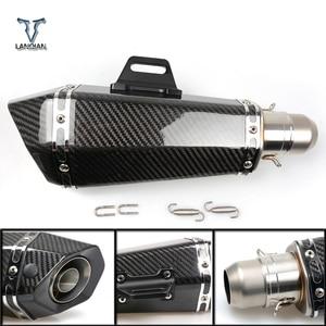 Image 1 - 36 51mm 가와사키 z1000sx z1000 sx z750r zx10r zx10 r zx6r zx636 용 머플러가있는 범용 CNC 오토바이 배기관