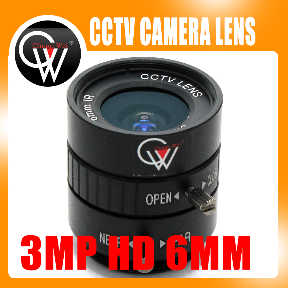 3MP HD 6mm lens Manual 1/2 Iris C Mount Industrial lens CCTV Camera Lens for HD Camera ip camera 3mp 4 18mm cctv lens manual iris varifocal 1 1 8 inch c mount industrial lens for imx185 1080p box camera ip camera