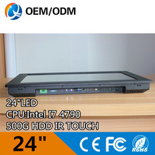 Intel I7 4790 3.6GHz CPU Black 24 » industrial pc computer touch screen/Capacitive touch Resolution 1920×1080