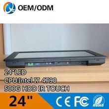 Intel font b I7 b font 4790 3 6GHz CPU Black 24 industrial pc computer touch