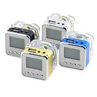 Mini Speaker LCD HiFi Music MP3 4 Player Micro SD TF USB Disk FM Radio Wholesale