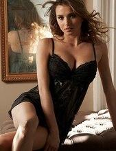 Vermelho preto Sexy Lingerie de Renda Lingerie Sexy Hot Erotic Lingerie com Arco Sleepwear Pijama Para As Mulheres