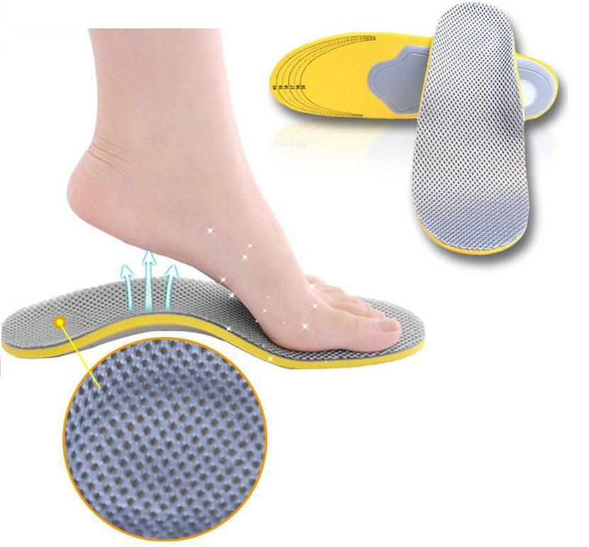 Sports insoles for man and women arch support breathable unisex free shipping feet care orthopedic flat foot shock health drop expfoot orthotic arch support shoe pad orthopedic insoles pu insoles for shoes breathable foot pads massage sport insole 045