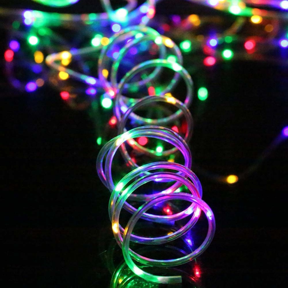 10m 50leds Battery Powered Led Rope Tube String Lights