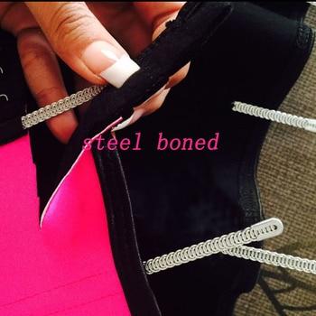 Big Discount! 9 Steel Boned Corset 100% Latex Waist Trainer For Women Latex Waist Cincher Belt Body Shaper Women Shapewear 5