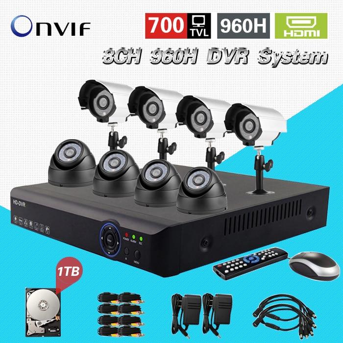 TEATE 8CH H 264 Surveillance Network 960h DVR Day Night Waterproof font b Camera b font